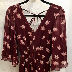 Abercrombie and Fitch Floral Red Romper NWOT